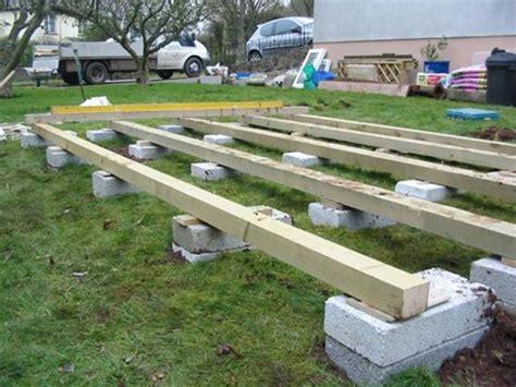 base raised on blocks garden building bases
