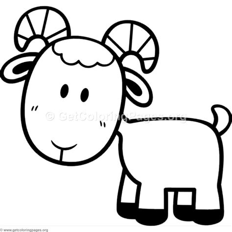 cartoon goat coloring page little cute cartoon goat coloring pages getcoloringpages org