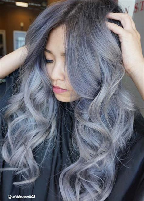 7 Tips For Colouring Grey Hair by Silver Blue Hair Dye Www Pixshark Images Galleries