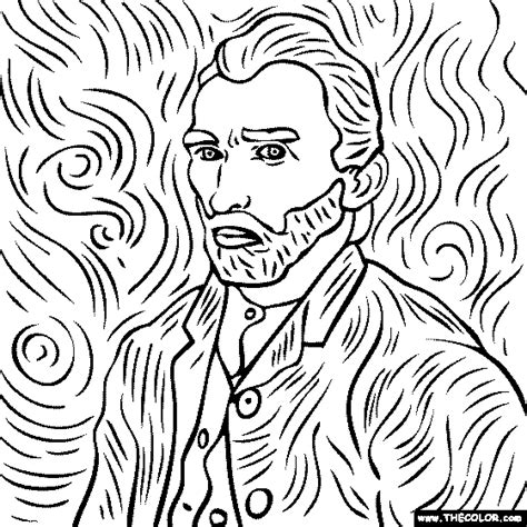 coloring pages vincent van gogh online coloring pages starting with the letter v page 2