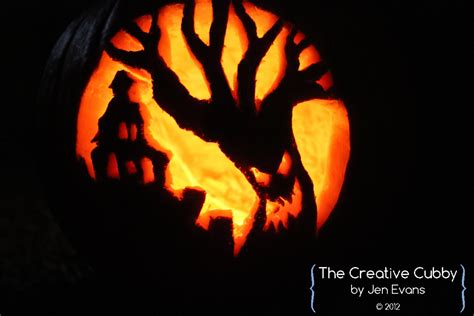 spooky tree pumpkin template the creative cubby october 2012