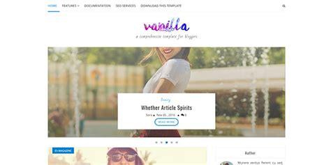 vanilla blogger template