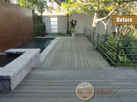 mahogany deck restoration