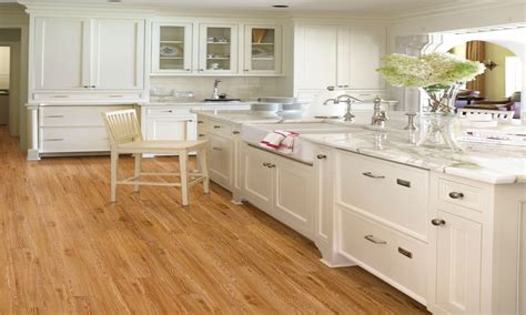 engineered bamboo floor country kitchens with white