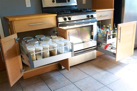 slide out organizers kitchen cabinets chris upgrades his kitchen cabinets with ikea drawer pull
