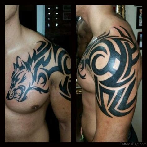 wolf tattoo on chest 50 magnificent wolf tattoos for chest