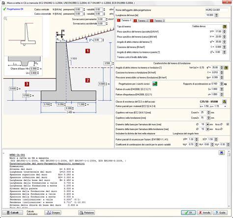 muro di sostegno a mensola software di calcolo muri di contenimento gt eiseko computers