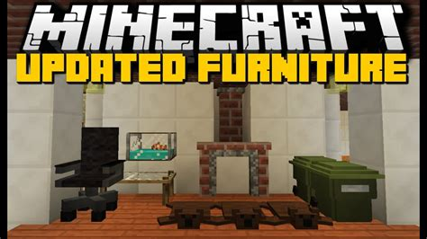 minecraft  furniture mod chairs kitchens workplaces  mod showcase youtube