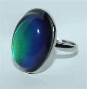what are the colors of a mood ring colorful groovy vintage style mood ring w color change chart