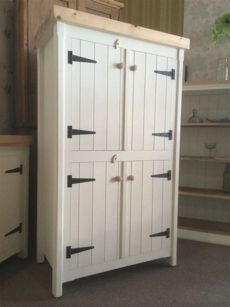 Free Standing Kitchen Pantry Cabinet by Rustic Wooden Pine Freestanding Kitchen Handmade Cupboard