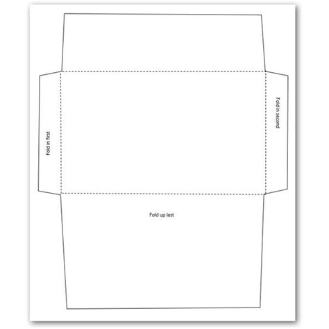 number 10 envelope template template design