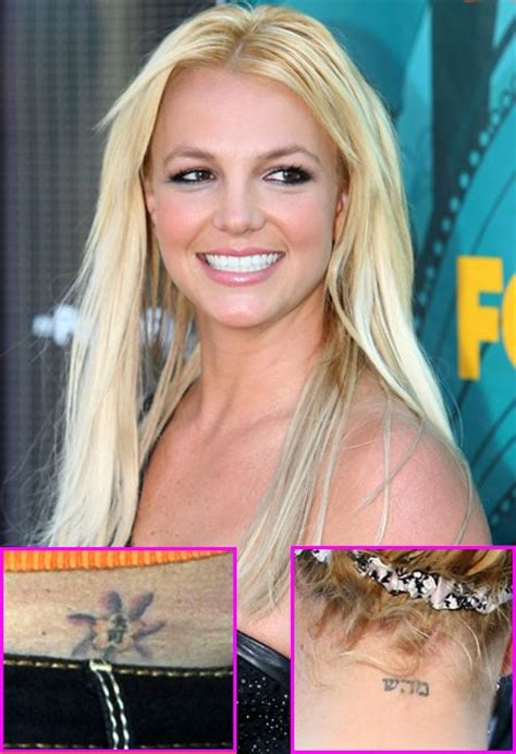 britney spears tattoos seven worst ups of all time