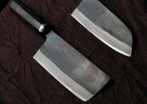 Large Kitchen Knives by All Purpose Knives Kurouchi Santoku And Nakkiri Knife 165mm