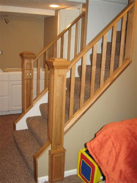 oak railing banister by spike lumberjocks com