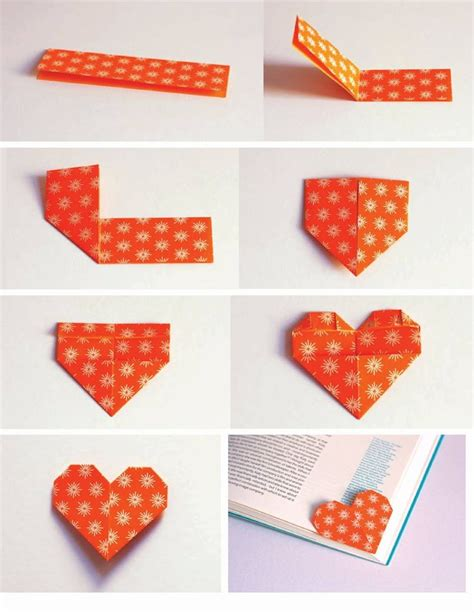 Origami Corner Bookmark - make a shaped origami bookmark to keep track of