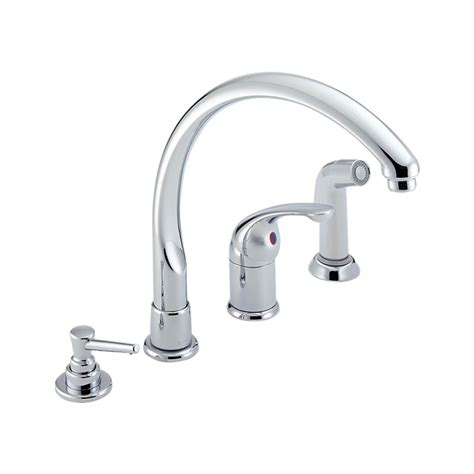 kitchen classic single handle kitchen faucet with spray soap dispenser delta kitchen faucets