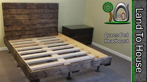 diy headboard   queen size bed youtube