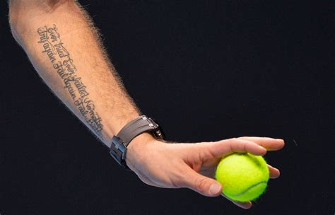 tennis tattoo fail athletes embody edgy power of tattoos the portland press