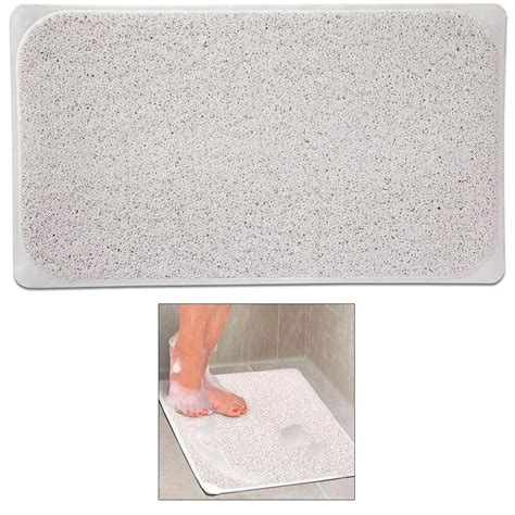 adhesive bathtub mat 1 shower rug non slip fast drying woven bath tub mat 29 quot x 17 quot adhesive suction jet com