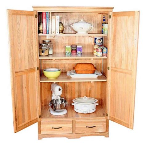 Oak Kitchen Pantry Storage Cabinet Home Furniture Design Furniture For Kitchen Storage