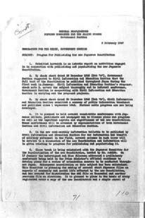 the birth of japan s postwar constitution books alfred hussey memorandum on program for publicizing the