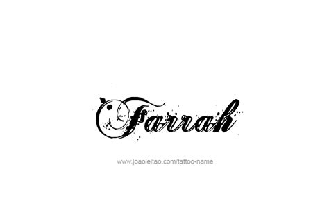 farrah tattoo farrah name designs