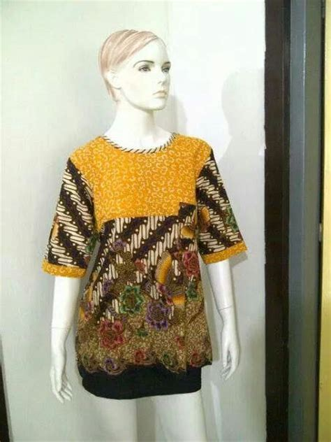 Batik Kombinasi 2 batik kombinasi batik blouse dress indonesia