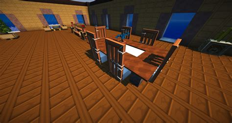 Minecraft Dining Table Minecraft Vanilla Livingroom Furniture Map 01