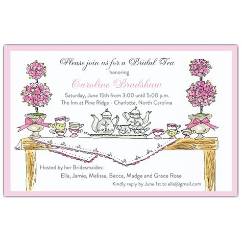 Tea Baby Shower Invites by High Tea Invitations Paperstyle