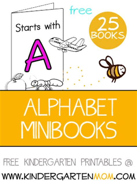 printable alphabet books for kindergarten kindergarten alphabet printables