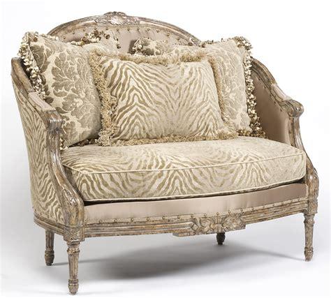 zebra settee zebra chic settee luxury fine home furnishings