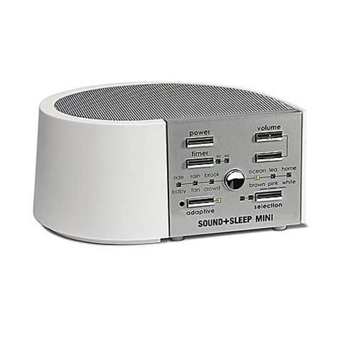 bathroom noise machine sound sleep mini sound machine in white silver bed bath
