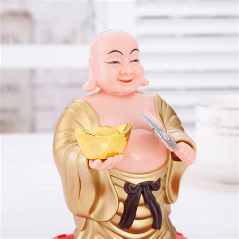bobblehead buddha solar powered bobblehead figure buddha 074
