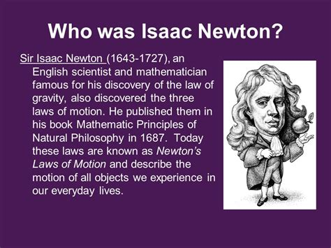 isaac newton biography laws of motion action reaction forces ppt download