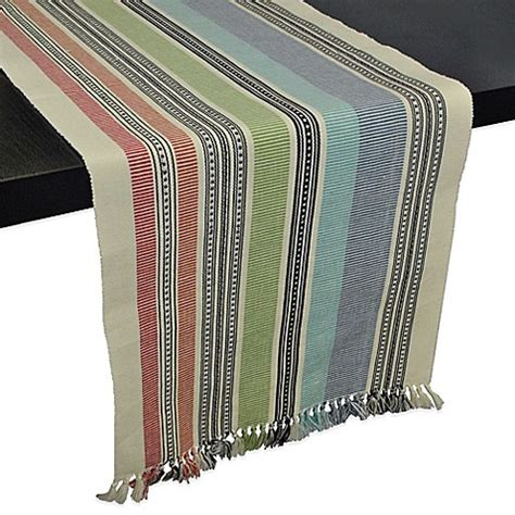 bed bath and beyond table runners mediterranean stripe 72 inch table runner bed bath beyond