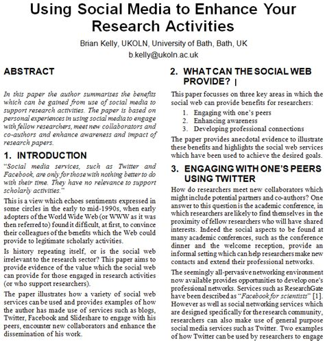 Scientific Research And Essays by Using Social Media To Enhance Your Research Activities Uk Web Focus