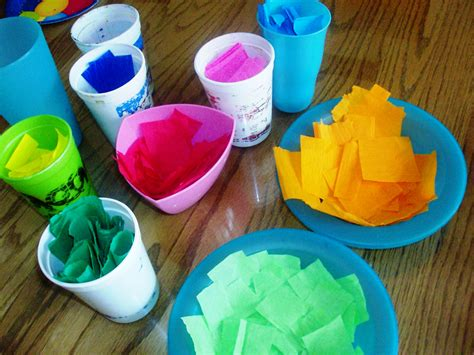 Easter Egg Paper Crafts - tissue paper easter egg craft mommysavers