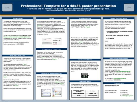 Online Poster Presentation Echinacea Poster Presentation Template 48x36
