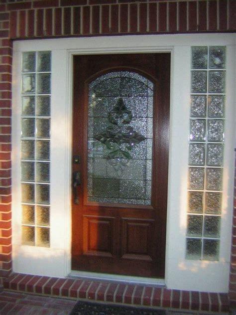 Glass Block Doors Front Door With Glass Block Sidelights Houston Glass Block