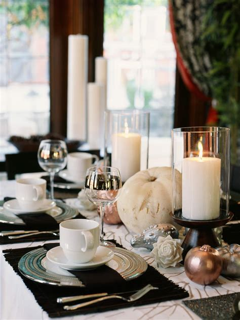 Dining Table Candle Centerpieces Dig 7 Suzy Q Better Decorating Bible Ideas How To Set The Table Thanksgiving