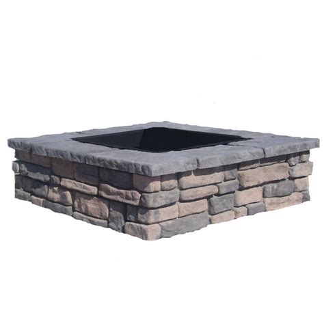 diy pit home depot fossill random limestone square pit kit rlssfp the home depot