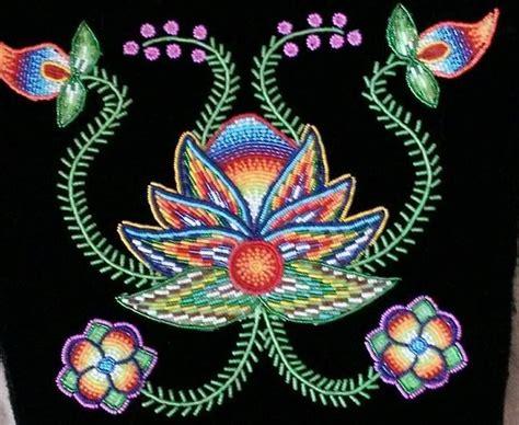 beadwork flowers powwow regalia beadwork and