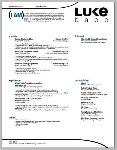 4 Resume Types by Lukebabb Type 3 Project 4 Portfolio Progress