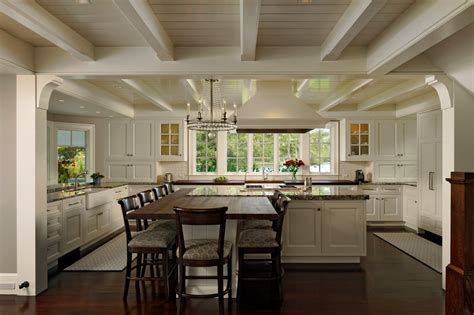 kitchen island table design ideas houzz white kitchens kitchen transitional with wood floor black cabinets