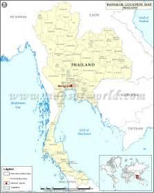 where is bangkok location of bangkok in thailand map