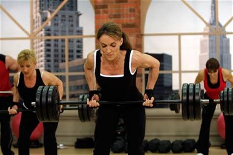 barbell row during the filming of sts meso #2 cathe