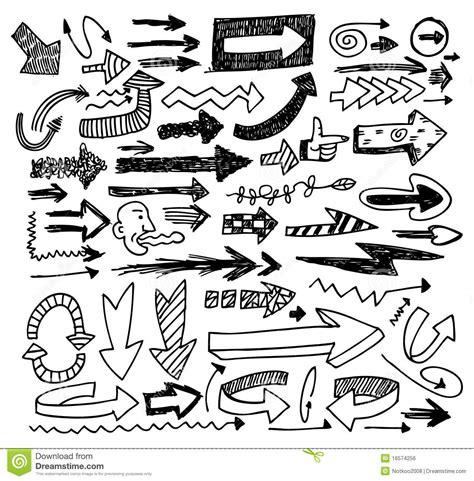 free doodle arrow vector doodle arrow set royalty free stock image image 16574256