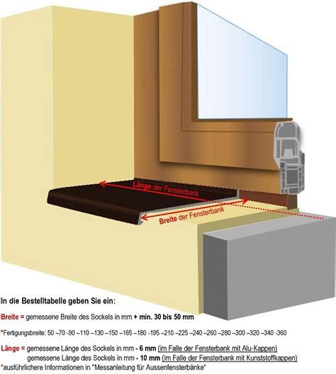 fensterbã nke bestellen gezogene aluminiumfensterb 228 nke mit der 25 mm nase