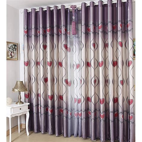 blackout polyester fabric purple color best bedroom romantic rose floral pattern gray purple polyester