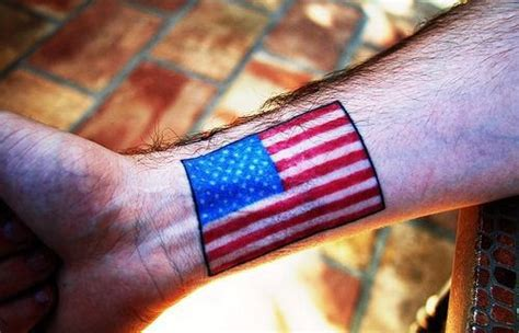 small american flag tattoo simple american flag small wrist colored tattoos pm